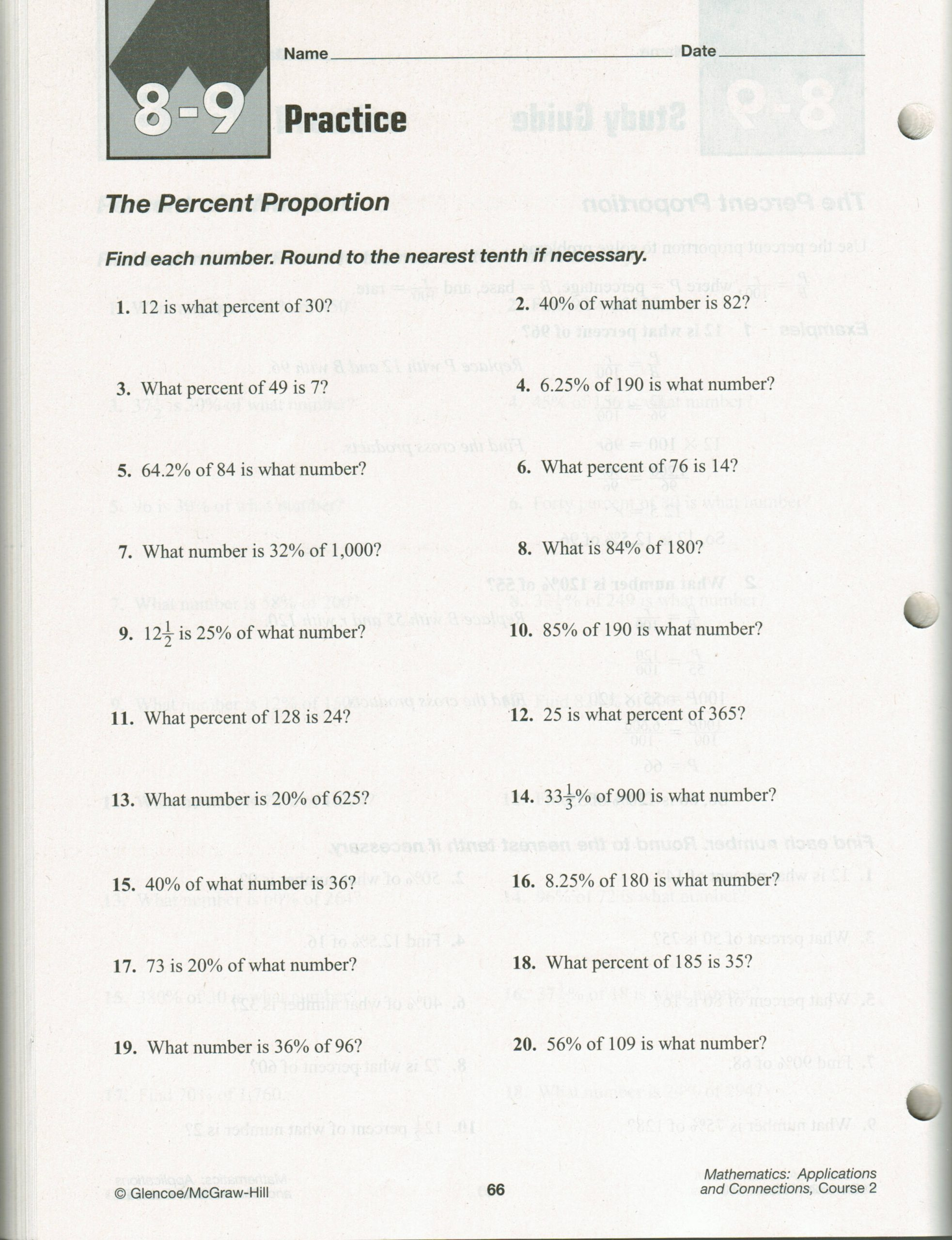7th Grade Proportions Worksheet