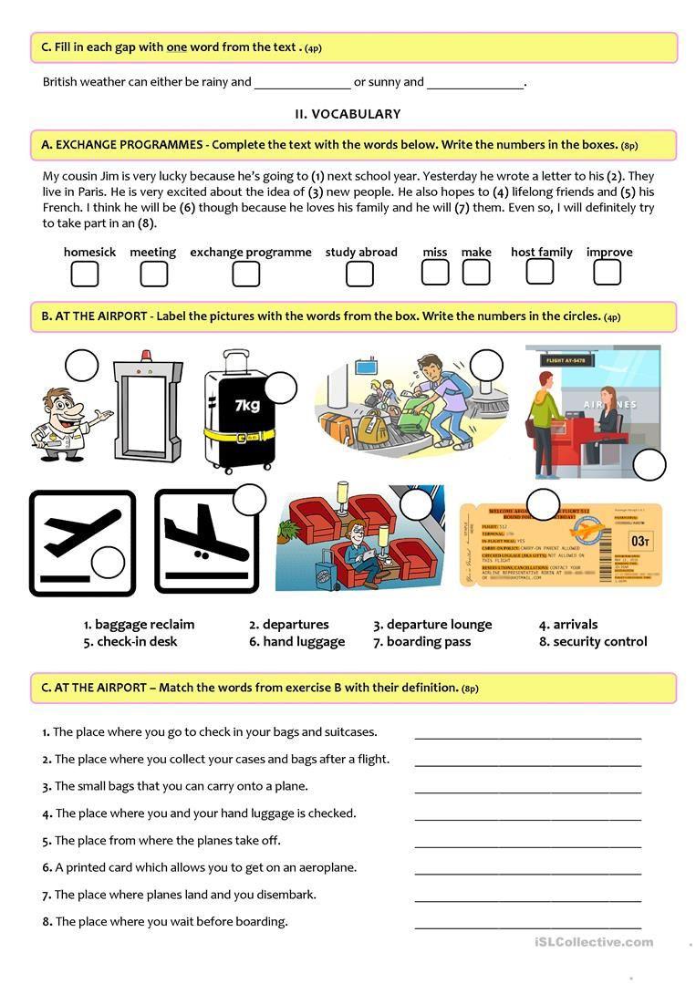 9th Grade Vocabulary Worksheet