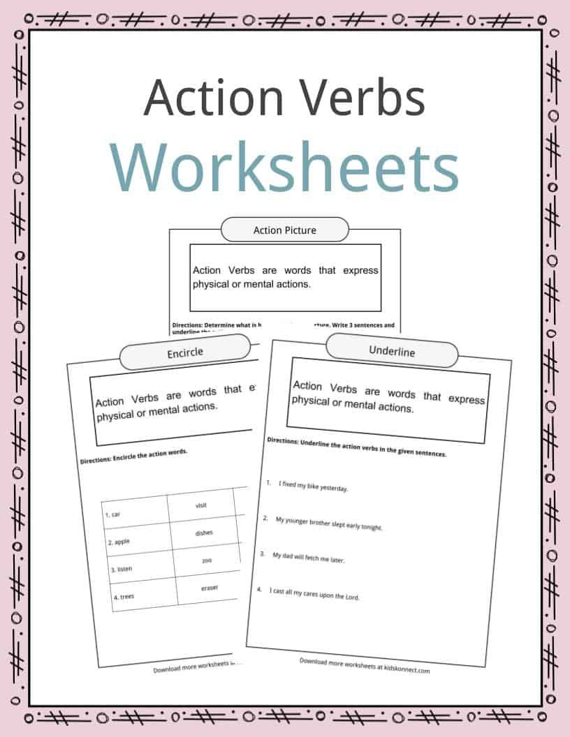 Action and Linking Verbs Worksheet