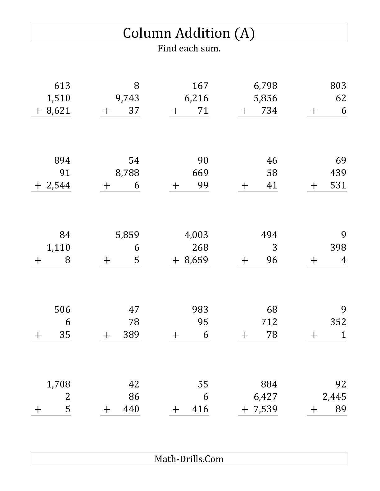 worksheet adding three numbers gabrieltoz worksheets for and