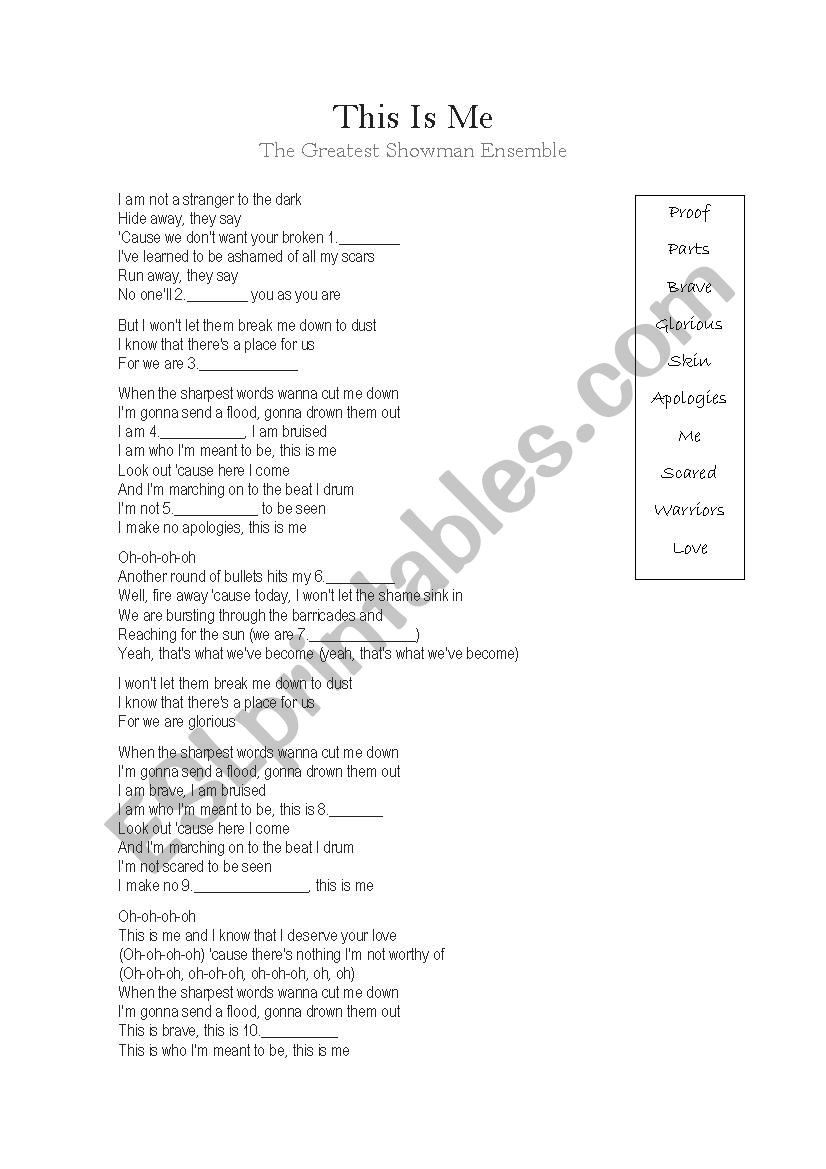All About Me Worksheet Pdf