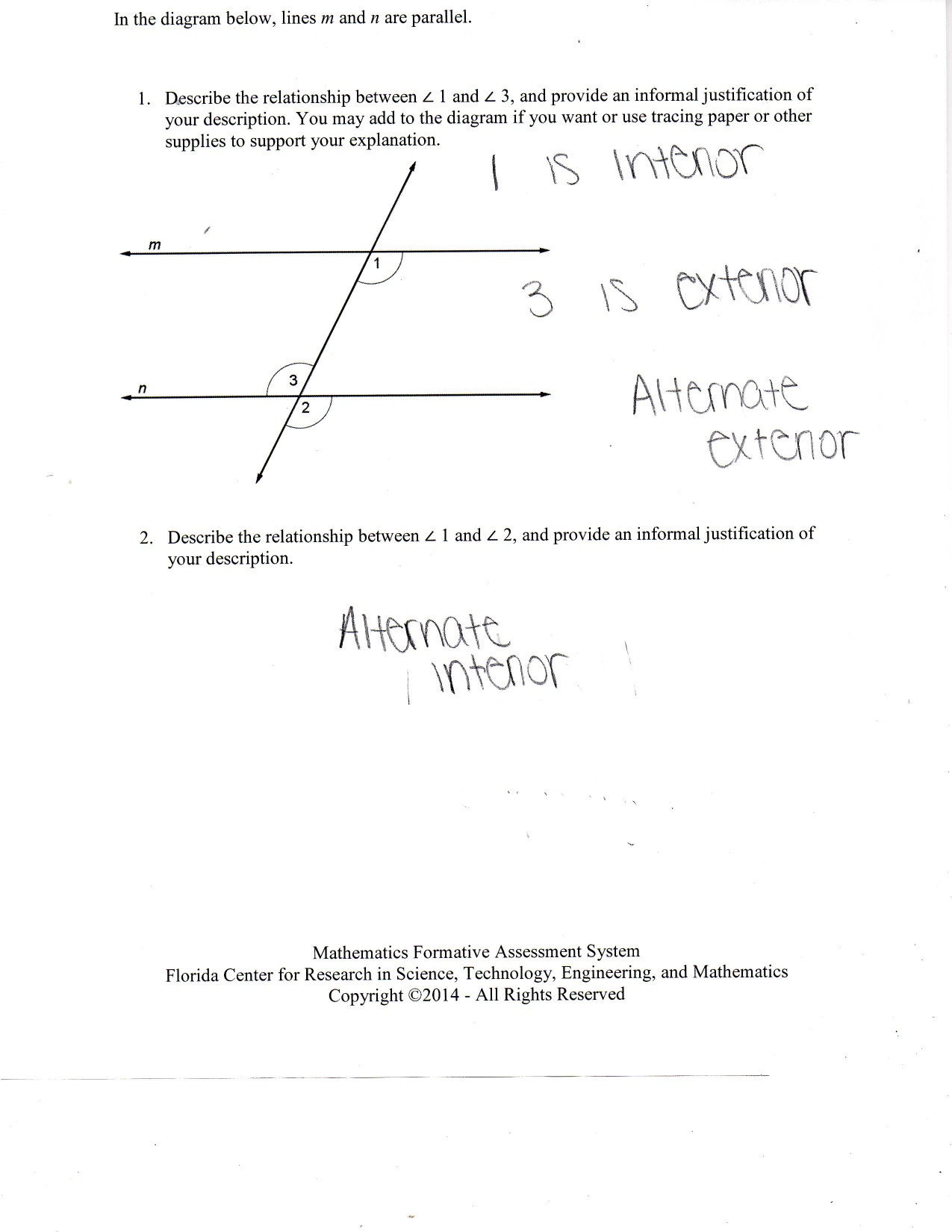 30 Angle Relationships Worksheet Answers | Education Template