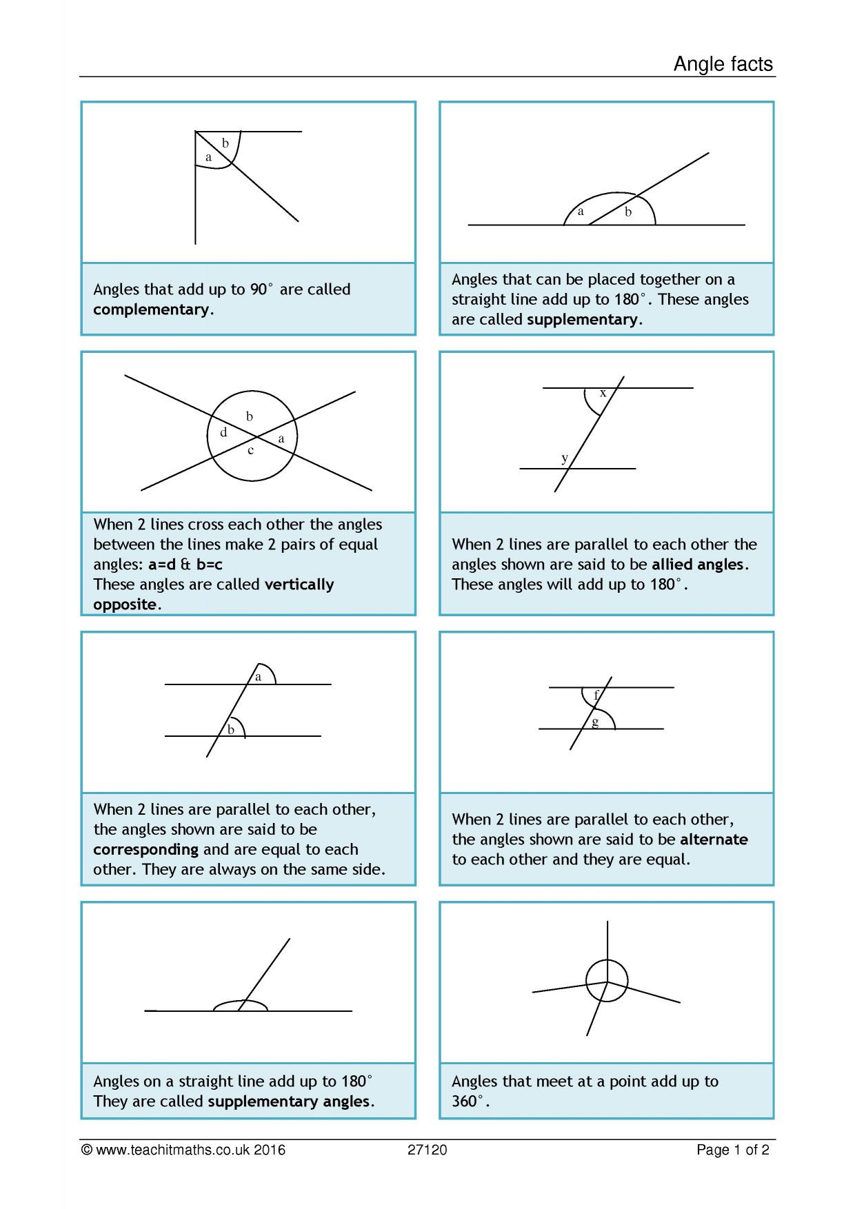 Angles Of Polygon Worksheet