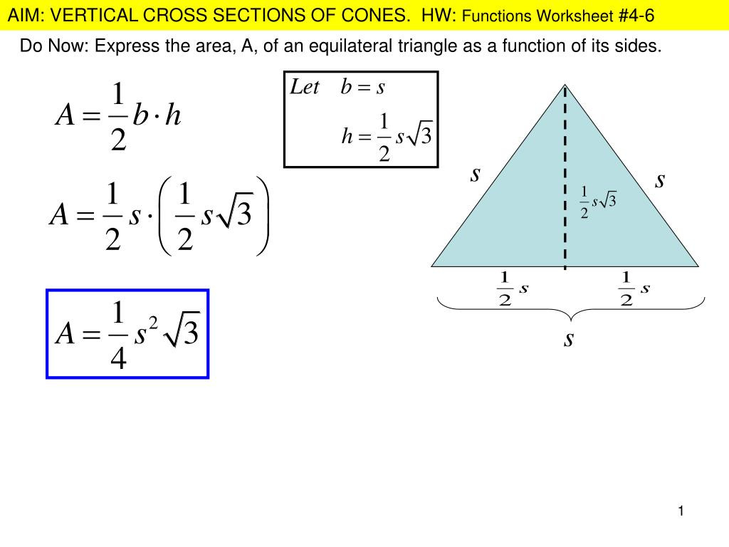 Area Of A Triangle Worksheet