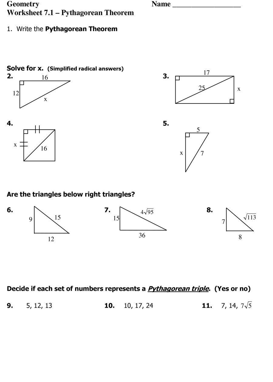 Area Of Triangles Worksheet Pdf