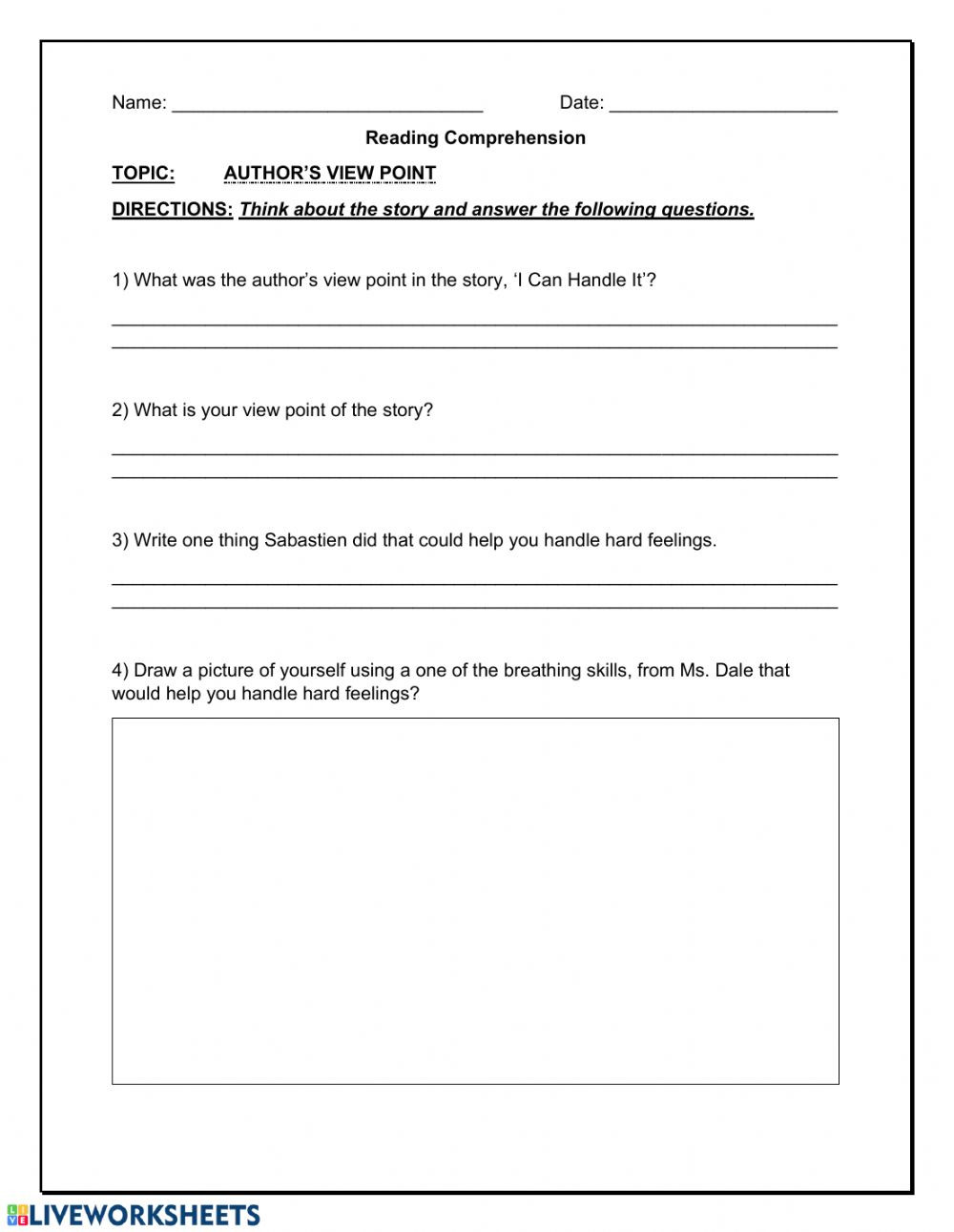 Author Point Of View Worksheet