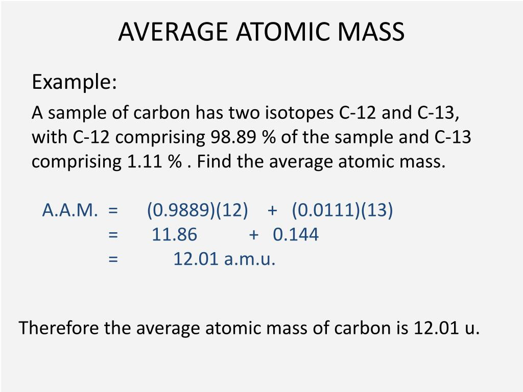 Average atomic Mass Worksheet Answers