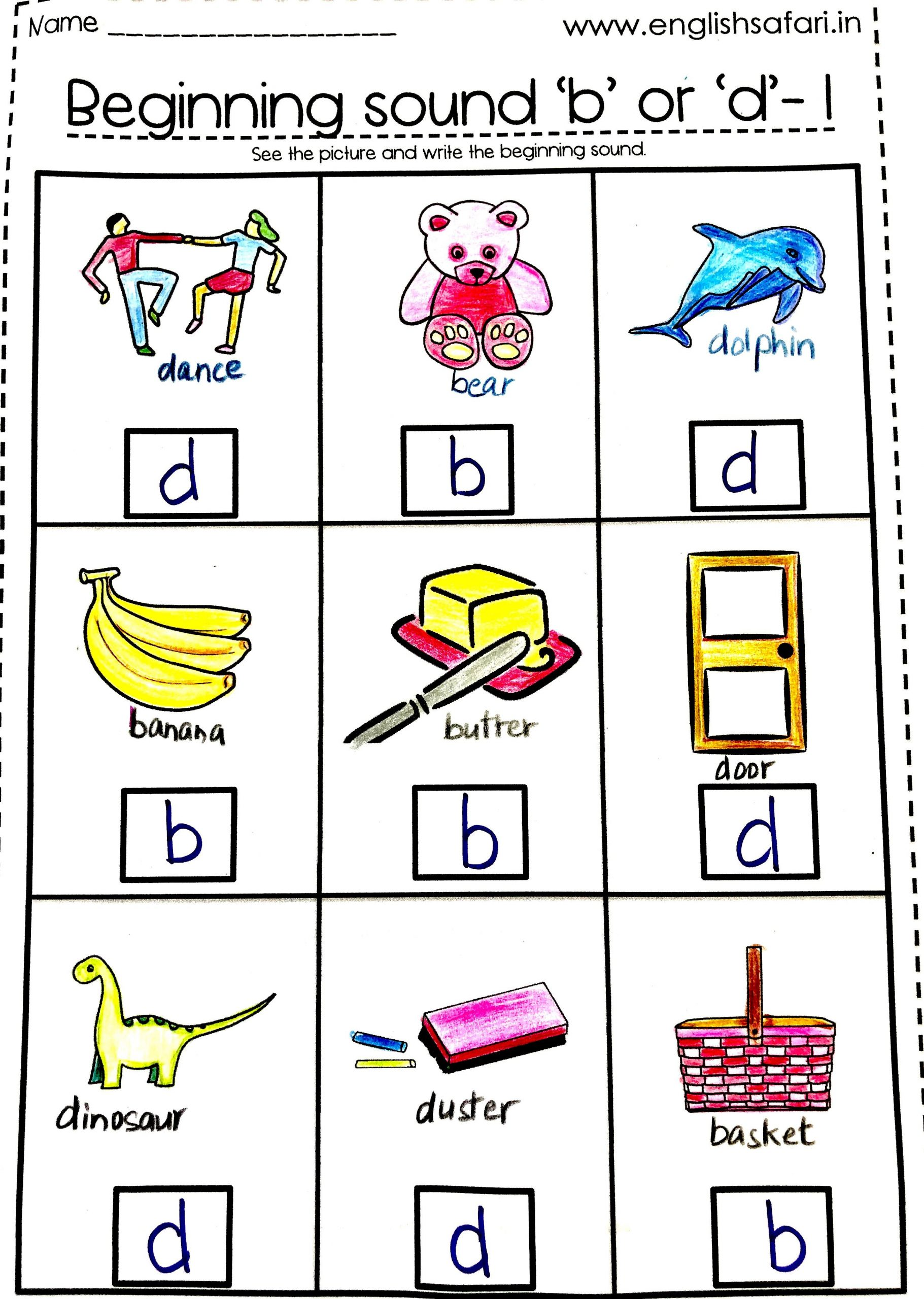 B and D Confusion Worksheet