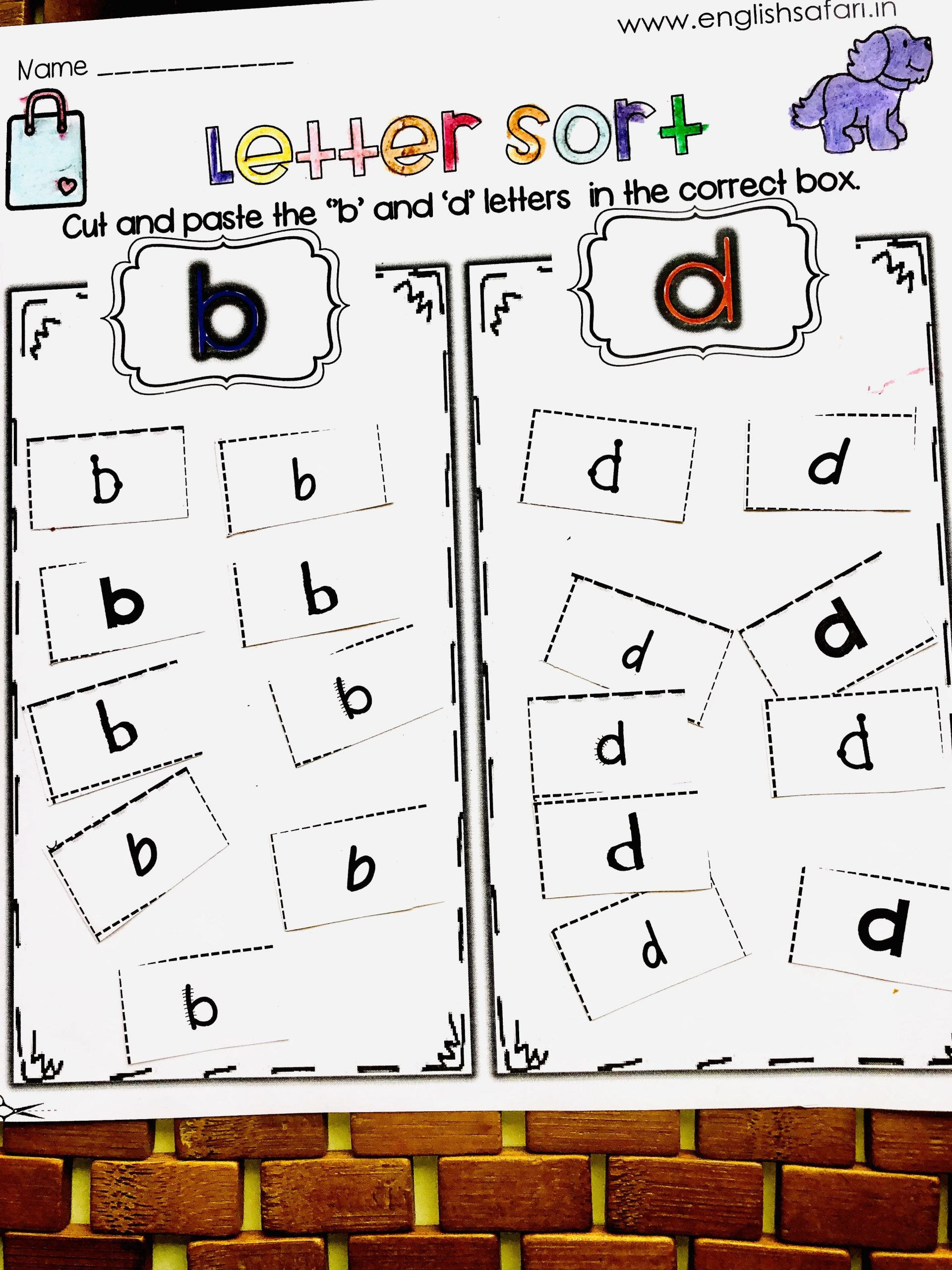 b and d confusion worksheets FREE