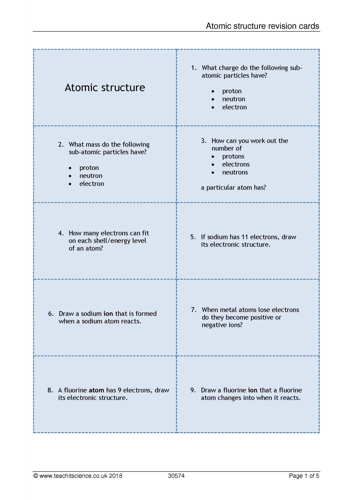 Build An atom Worksheet Answers