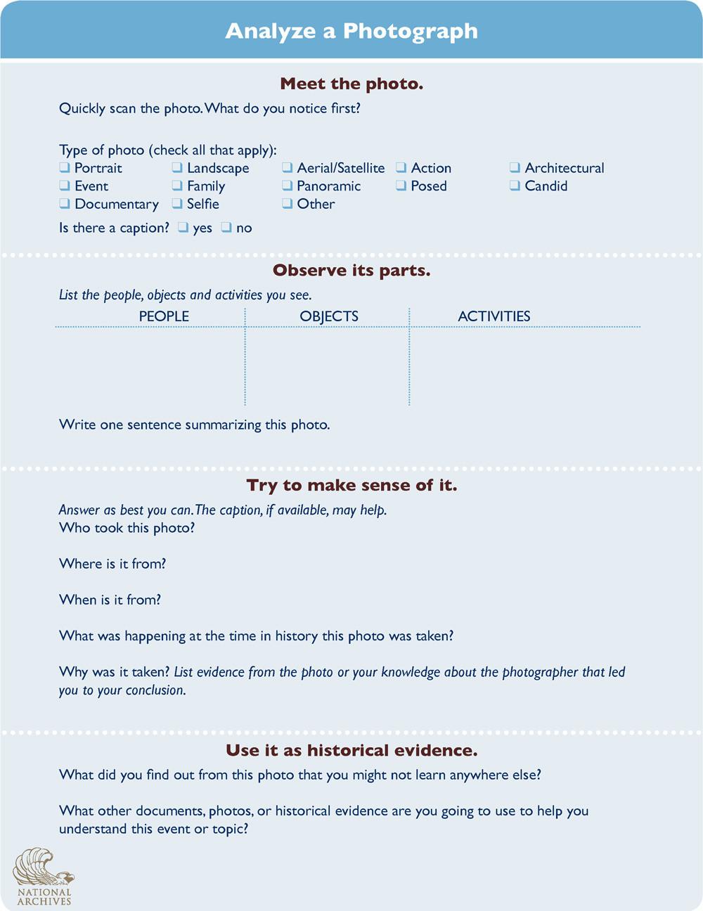 Cartoon Analysis Worksheet Answer Key