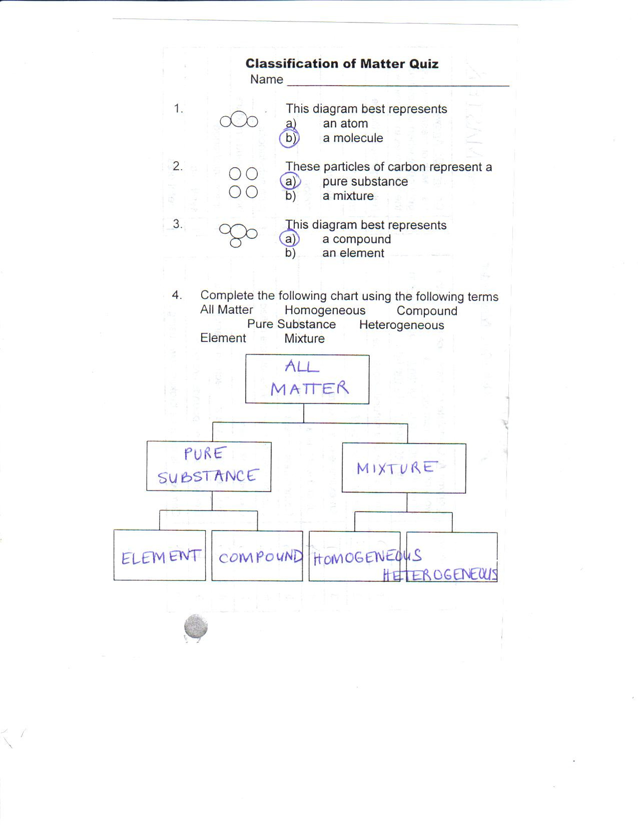 Classification Of Matter Worksheet Answers | Education ...