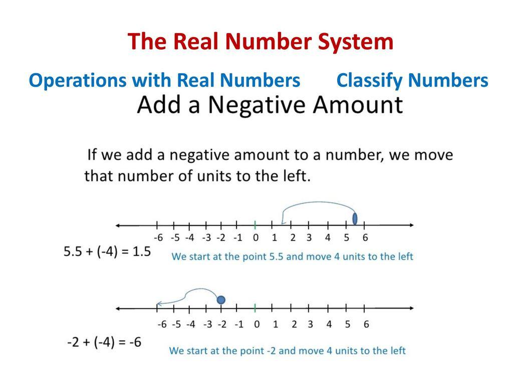 Classify Real Numbers Worksheet