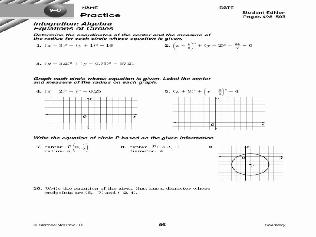 Completing the Square Worksheet
