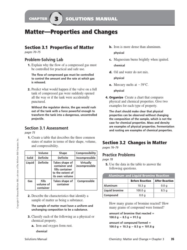 30 Composition Of Matter Worksheet | Education Template