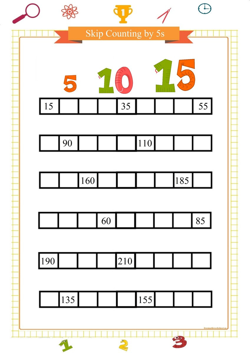 Count by 5s Worksheet