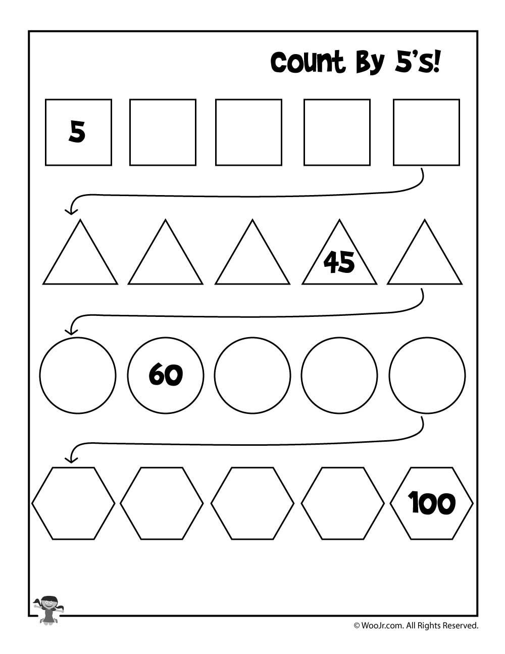 Count by 5 s Worksheet