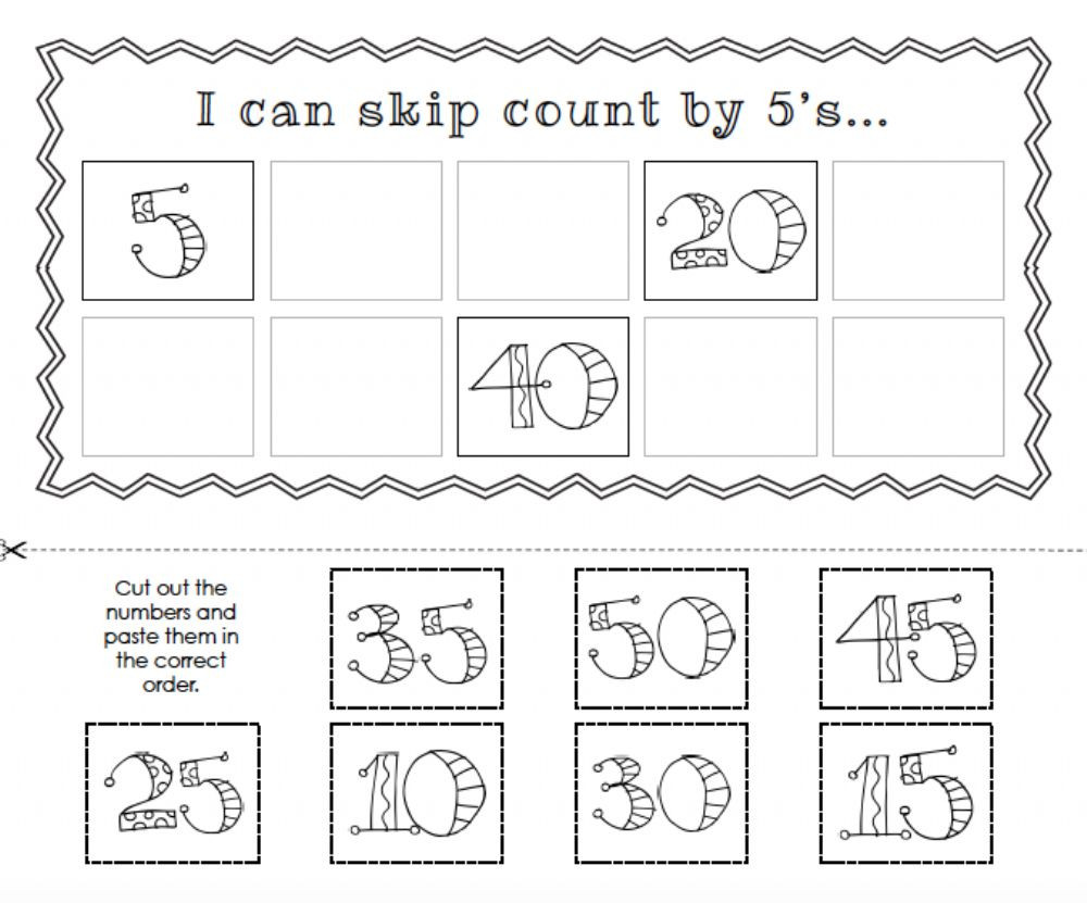 Counting by 5 s Interactive worksheet