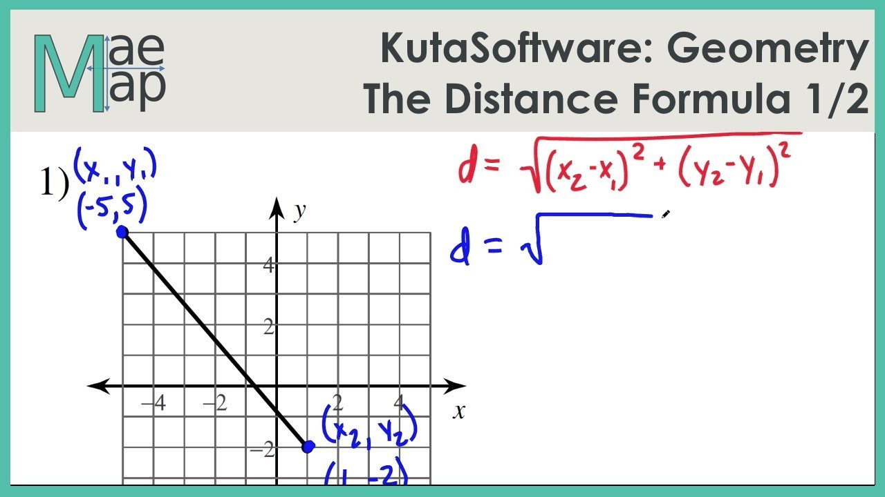 KutaSoftware Geometry The Distance Formula Part 1
