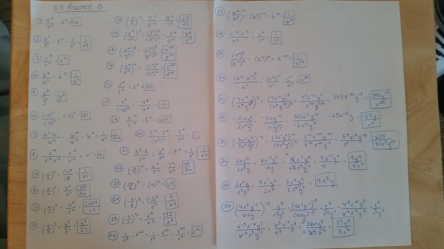 Double Cross Math Worksheet Answers