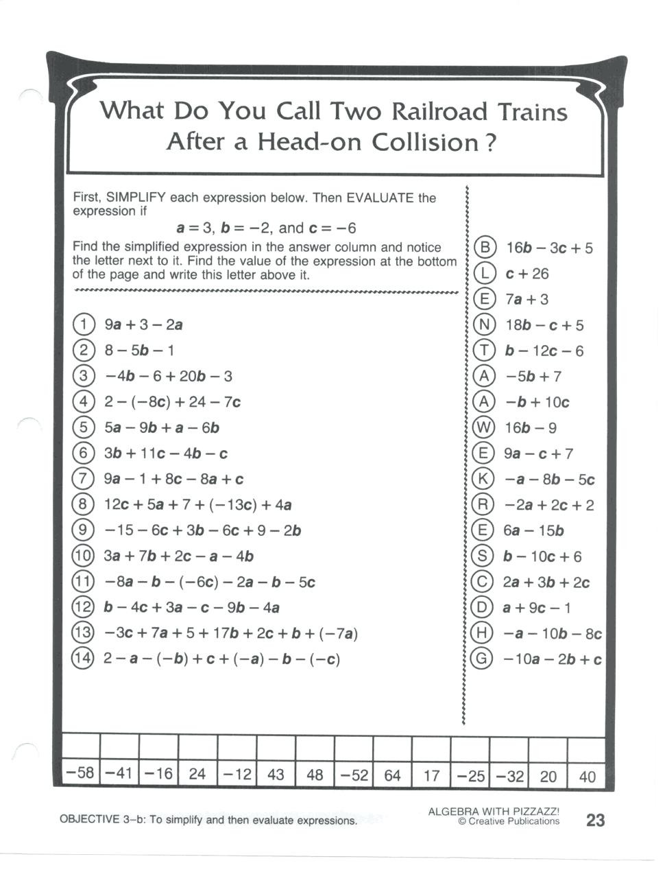 Double Cross Math Worksheet Answers Promotiontablecovers