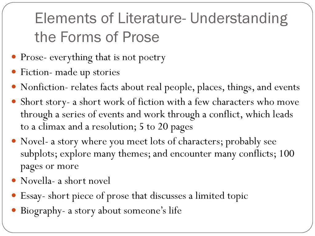 Elements Of Poetry Worksheet