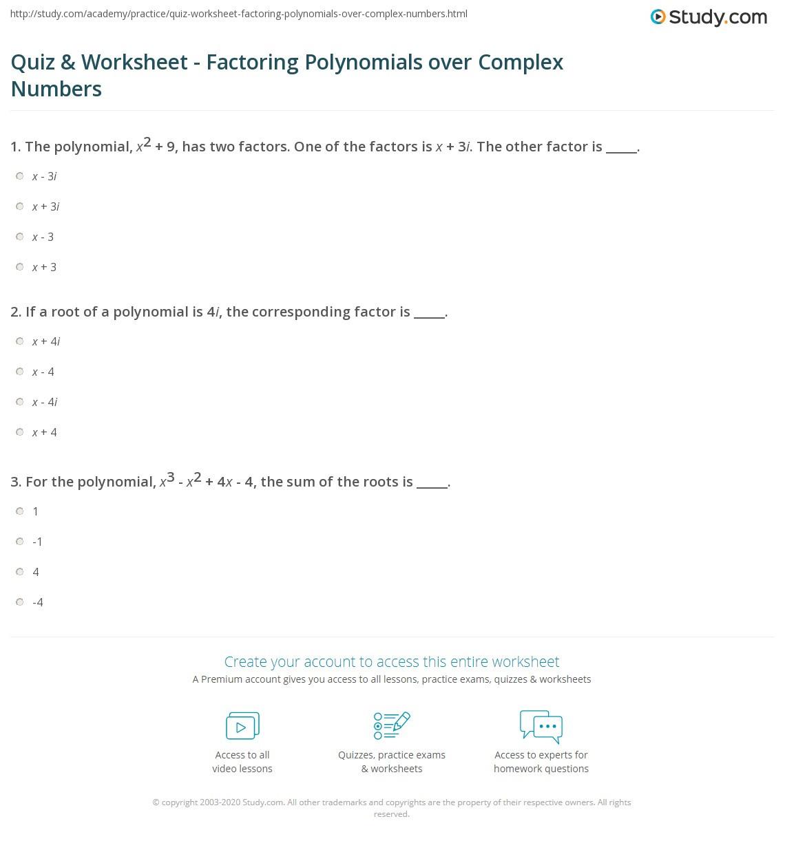 Factoring Practice Worksheet Answers