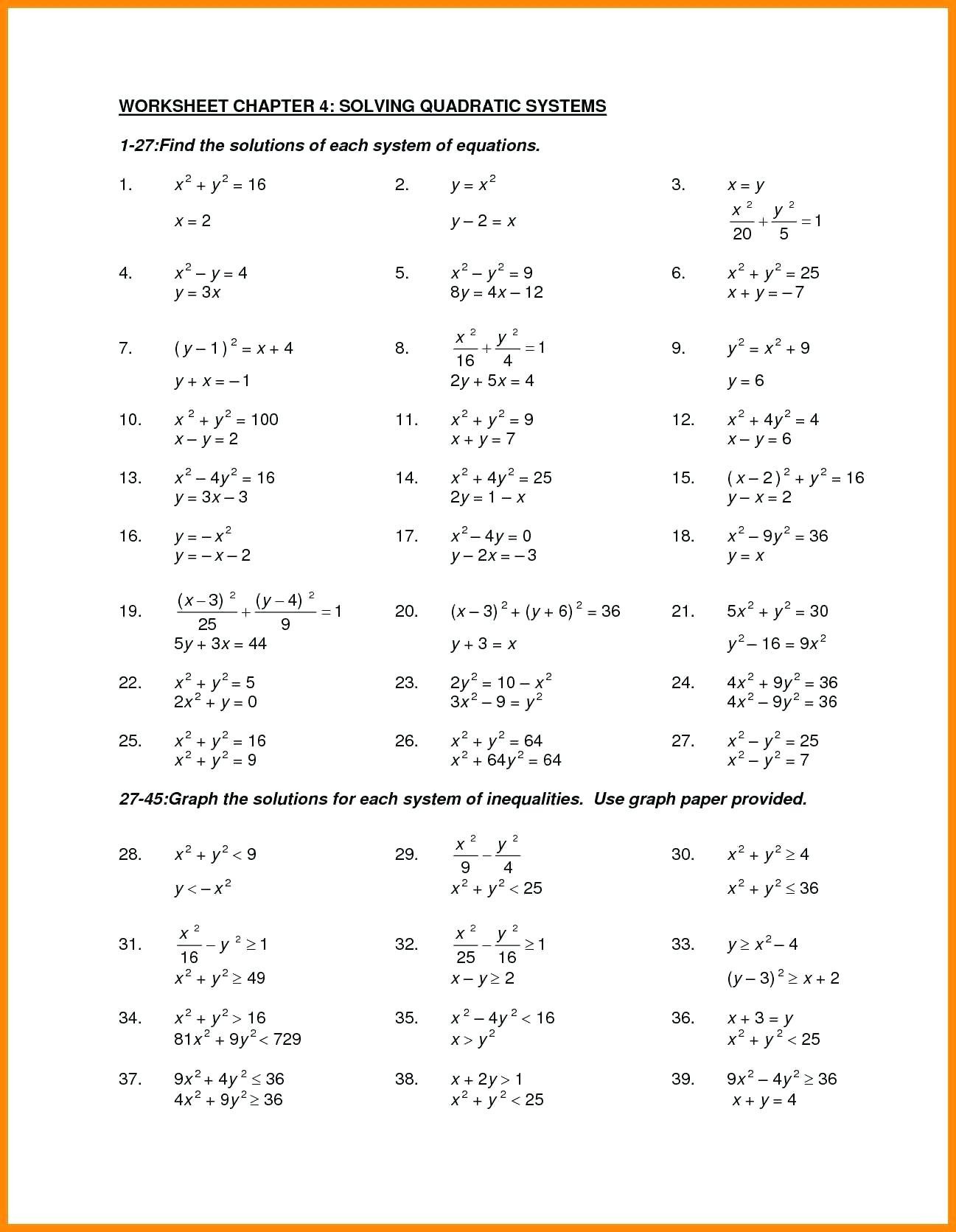 Factoring Worksheet with Answers