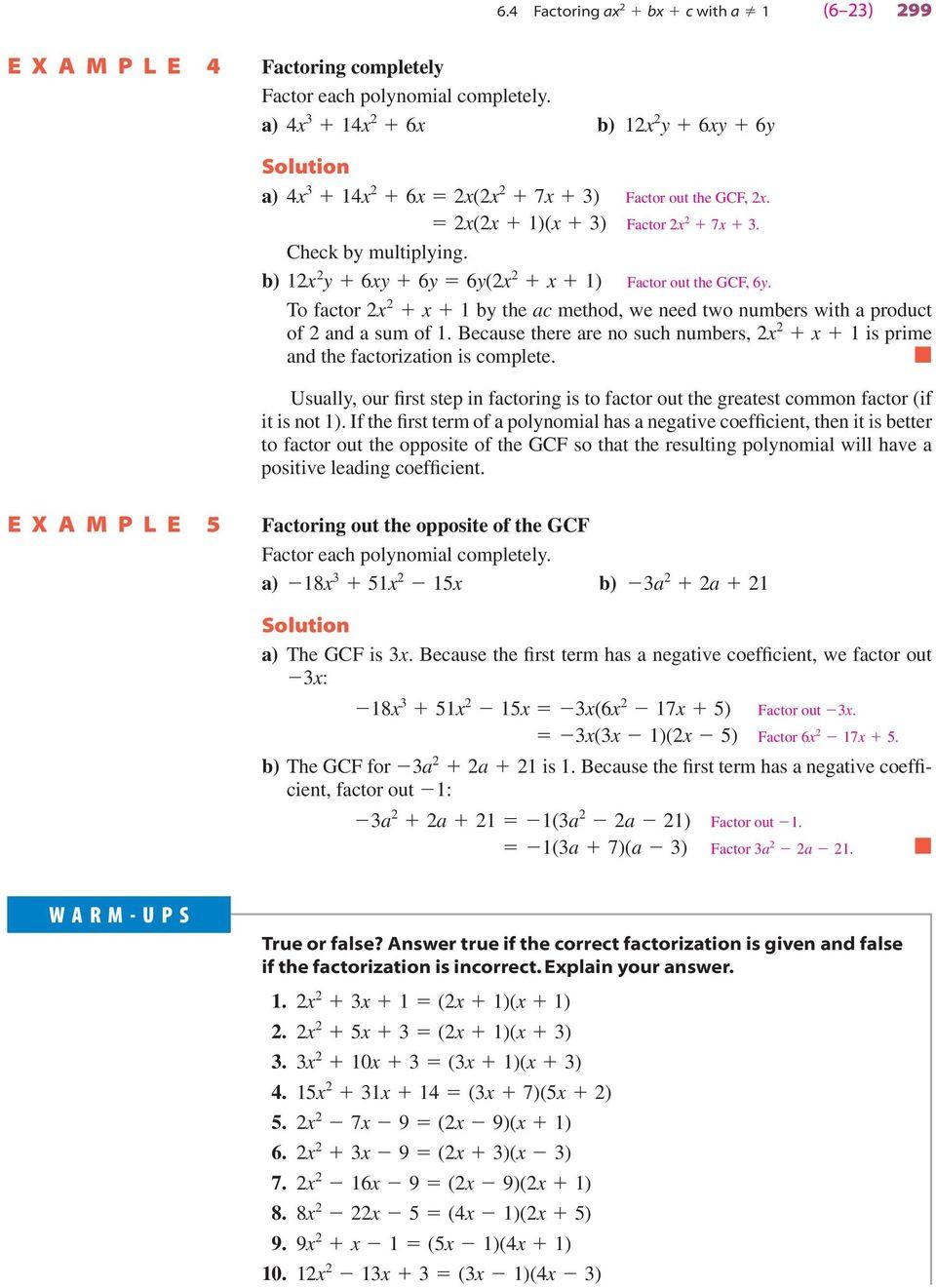 Factoring X2 Bx C Worksheet