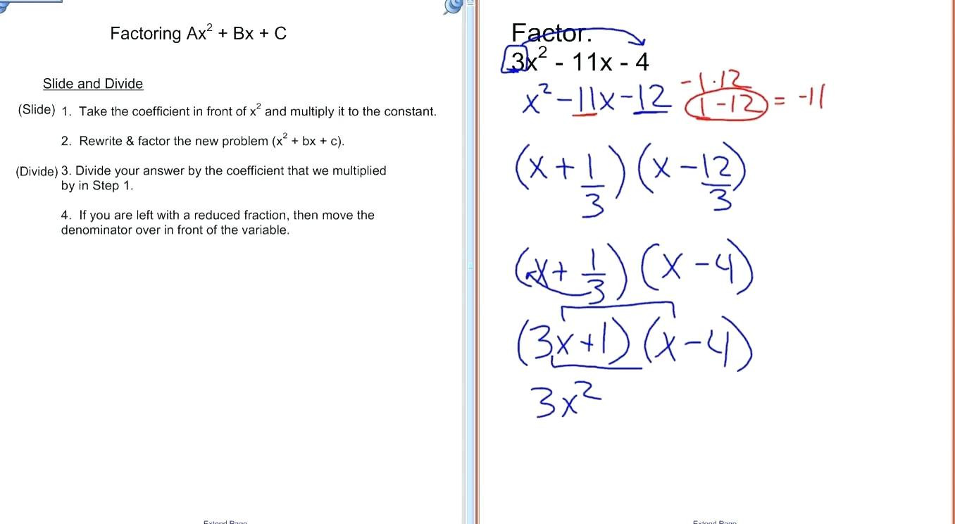 Factoring X2 Bx C Worksheet Answers Promotiontablecovers