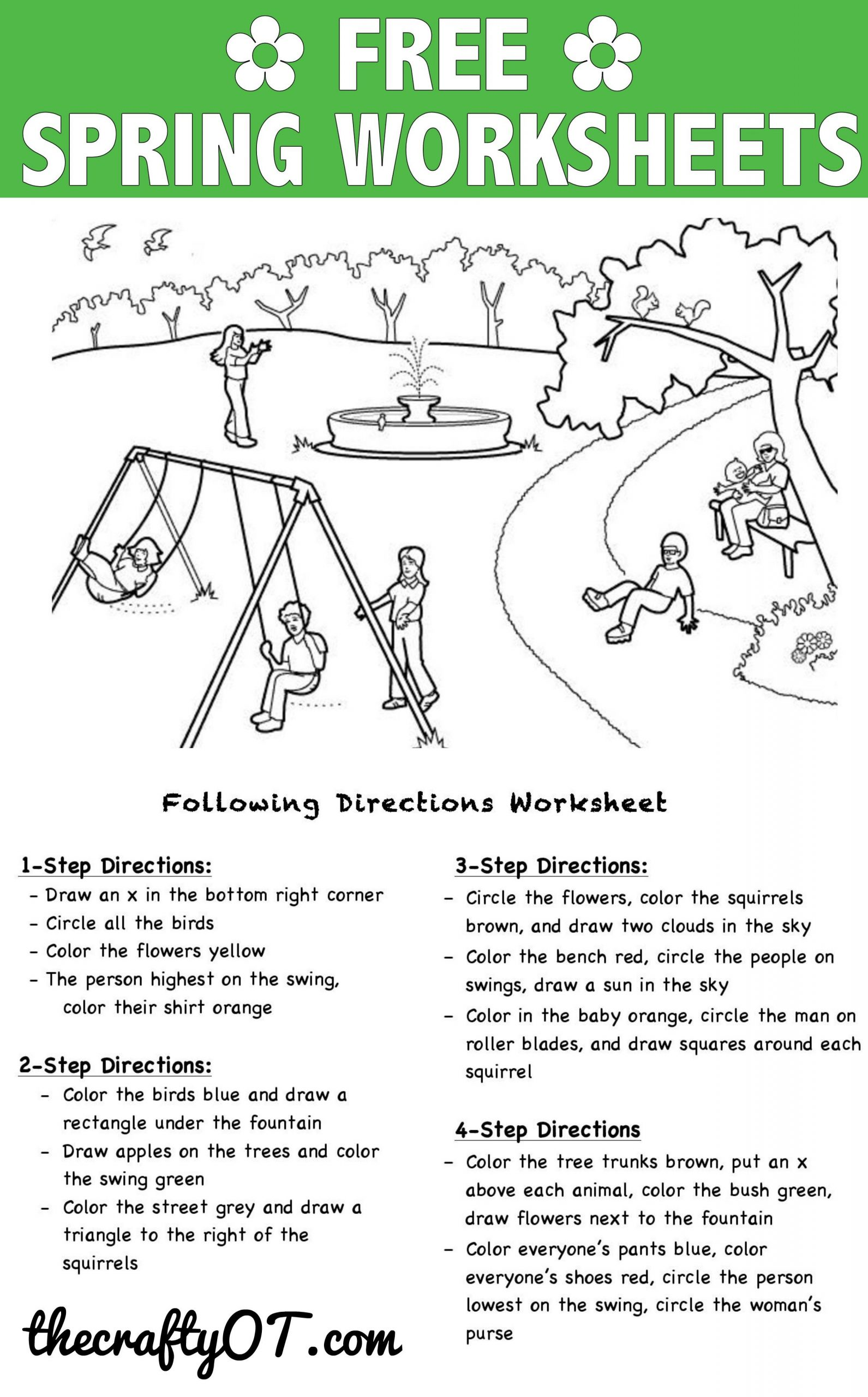 Following Directions Worksheet Trick