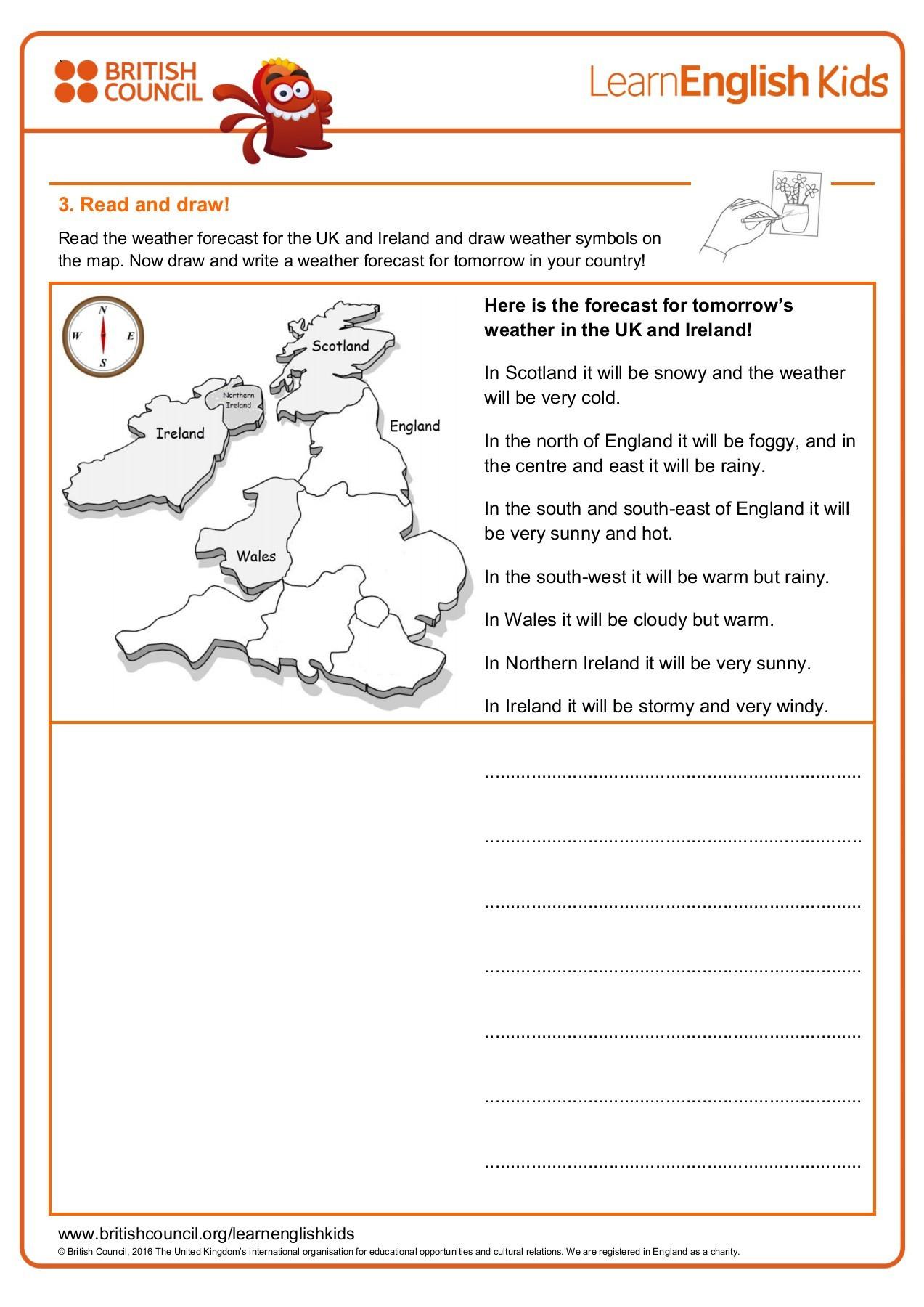 Forecasting Weather Map Worksheet 1