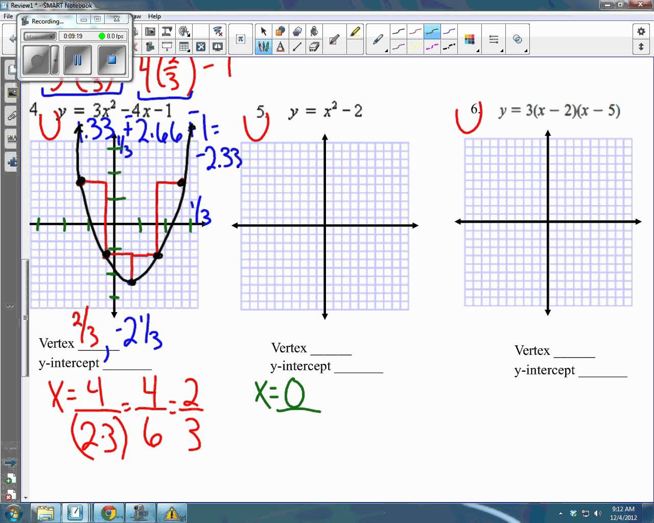 Graphing Quadratics Worksheet Answers