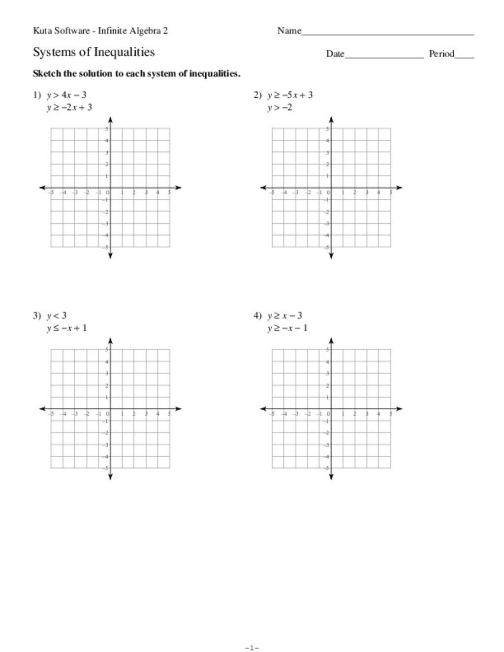30 Graphing Systems Of Inequalities Worksheet   Education ...