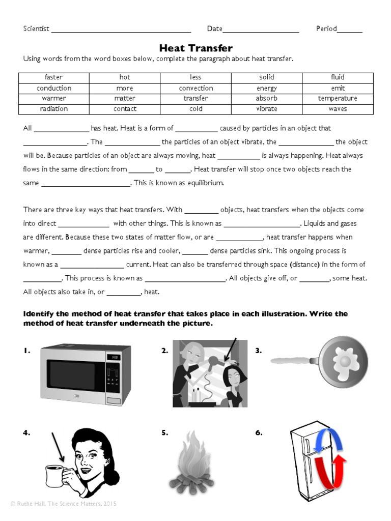 Heat Transfer Worksheet Answer Key