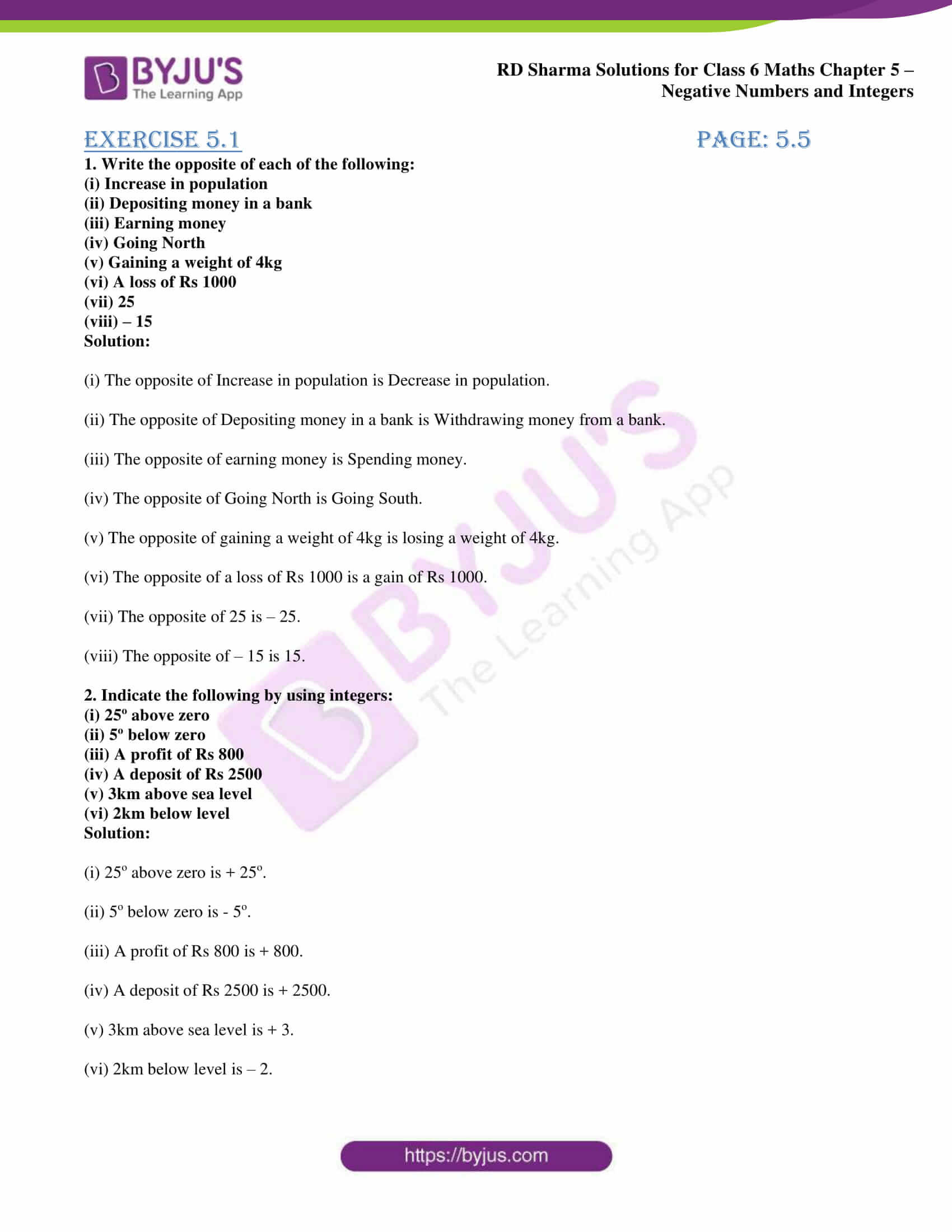 Integers Word Problems Worksheet