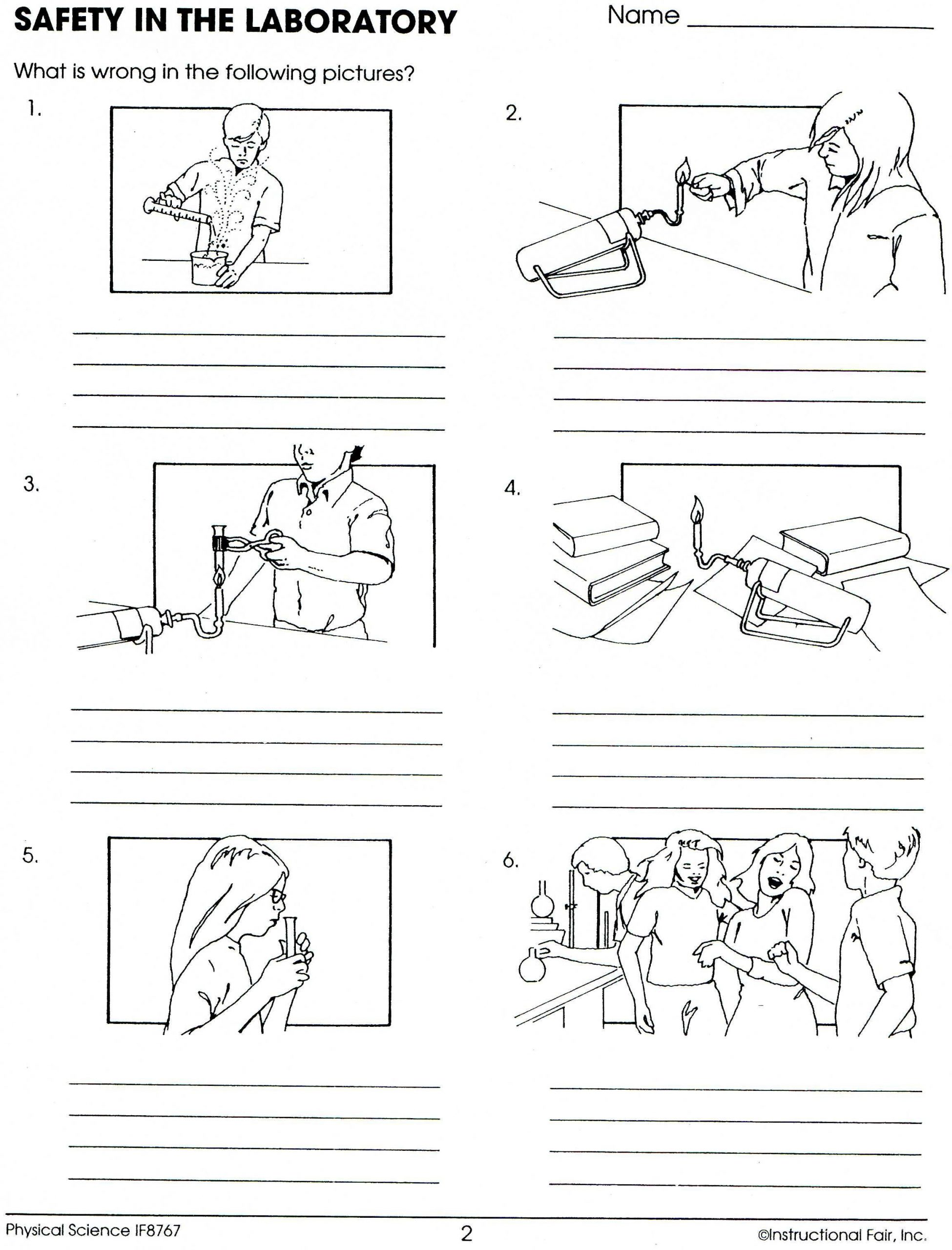 Lab Safety Worksheet Answers