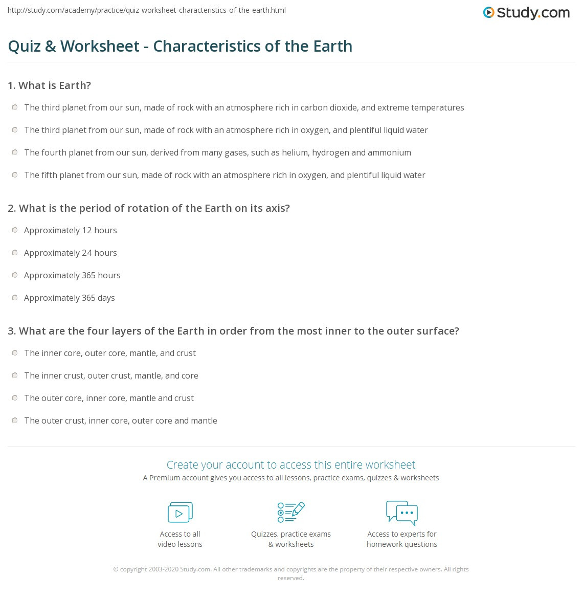 Layers Of the Sun Worksheet