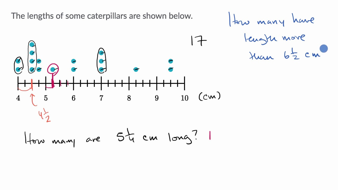 Line Plots with Fractions Worksheet