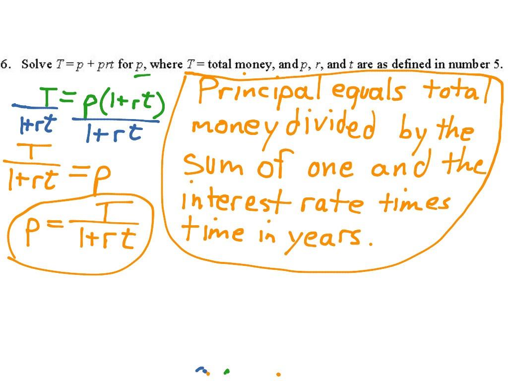 Literal Equations Worksheet Answer