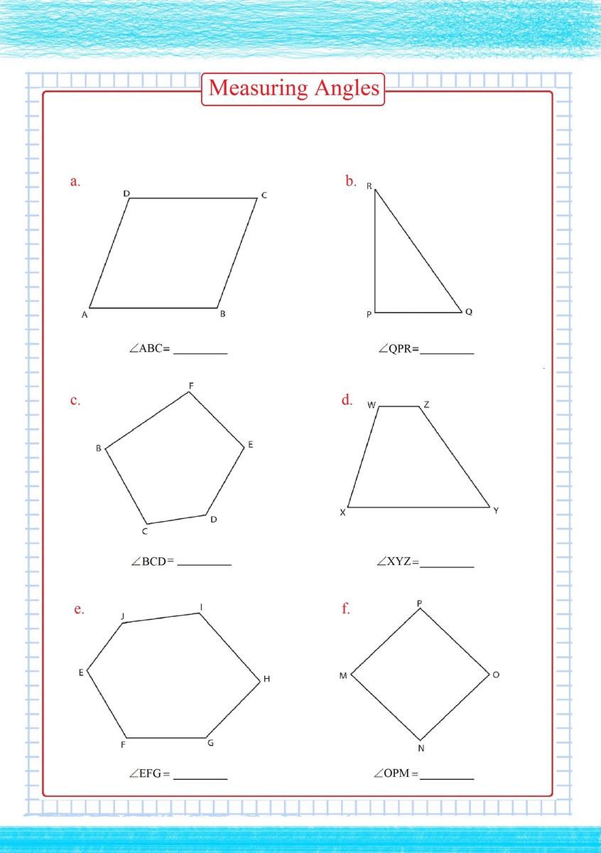 Measuring Angles Worksheet Pdf