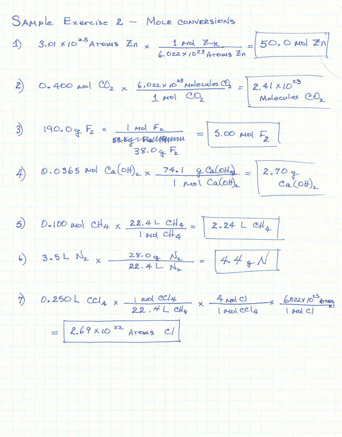 Molar Conversion Worksheet Answers