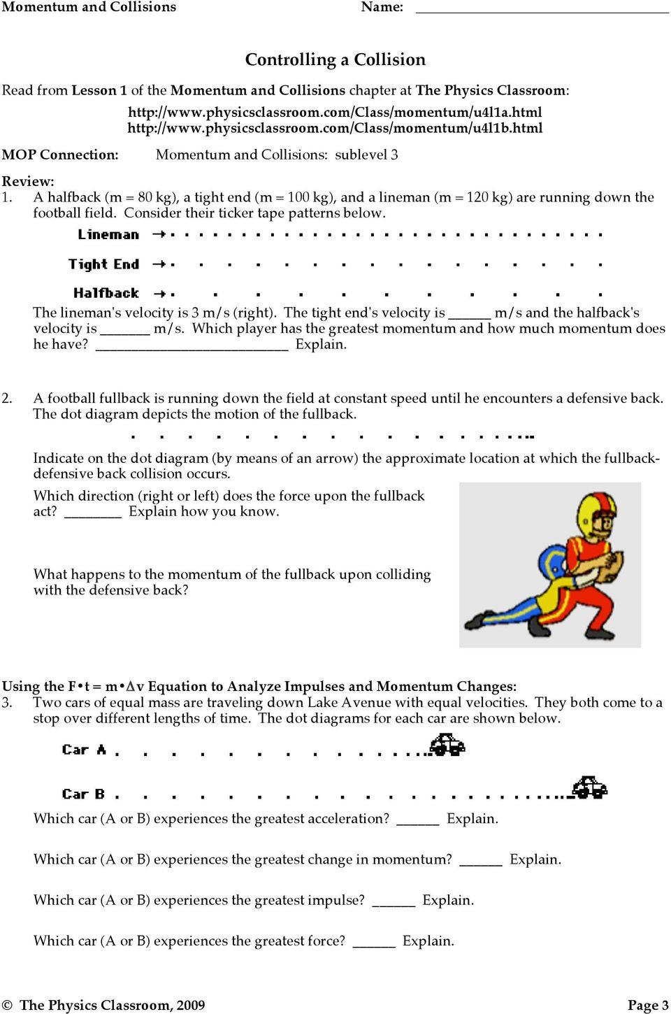 30 Momentum and Collisions Worksheet Answers | Education ...
