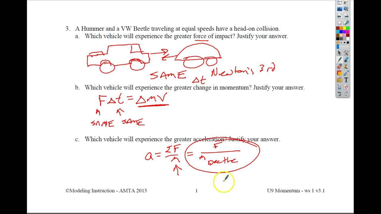 Momentum Worksheet Answer Key