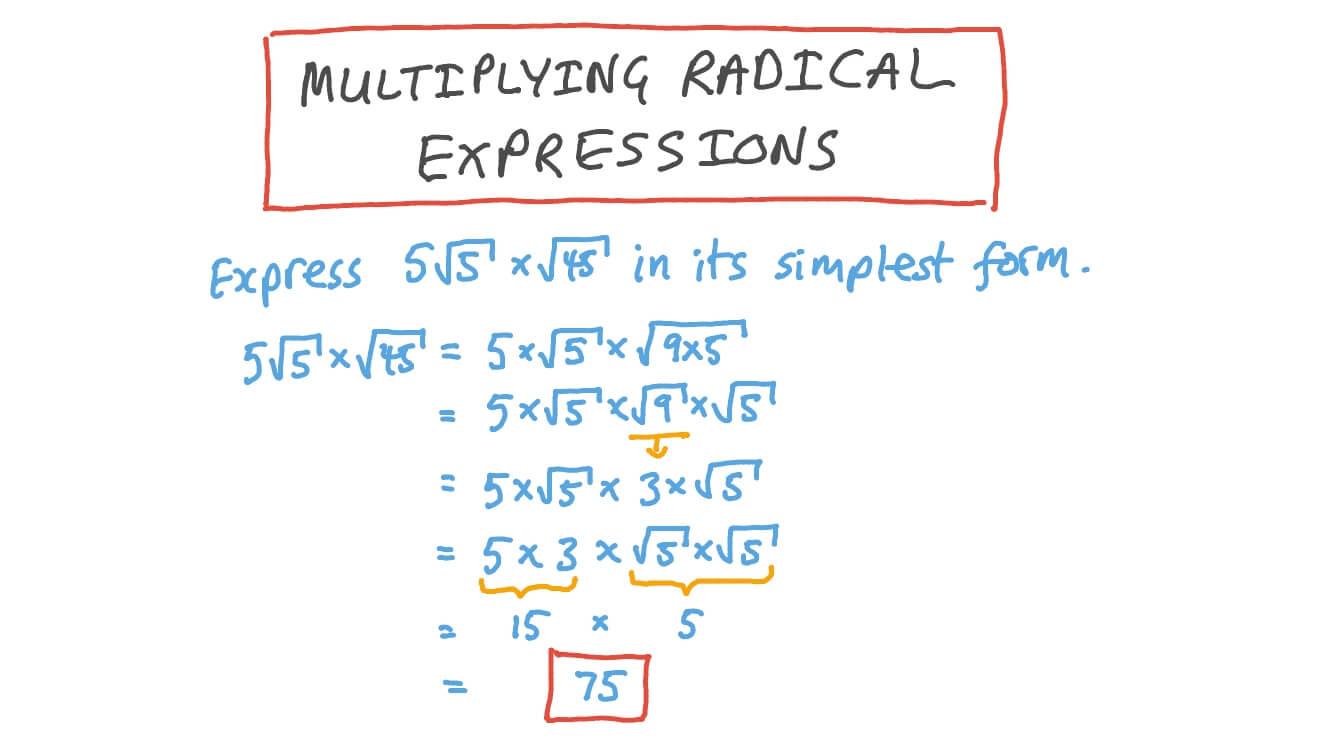 Multiplying Radical Expressions Worksheet