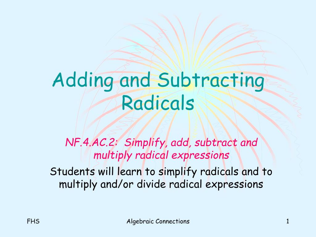 Multiplying Radical Expressions Worksheet
