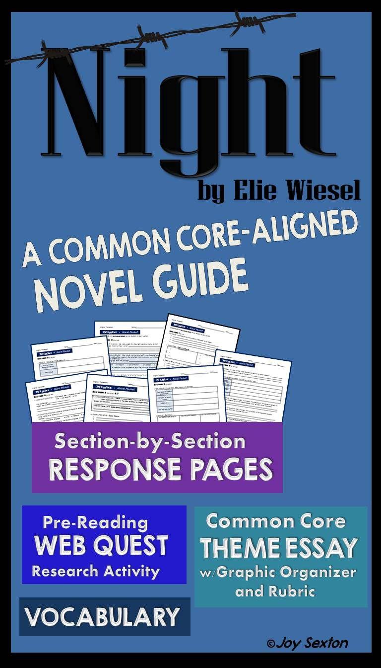 Night Elie Wiesel Worksheet Answers