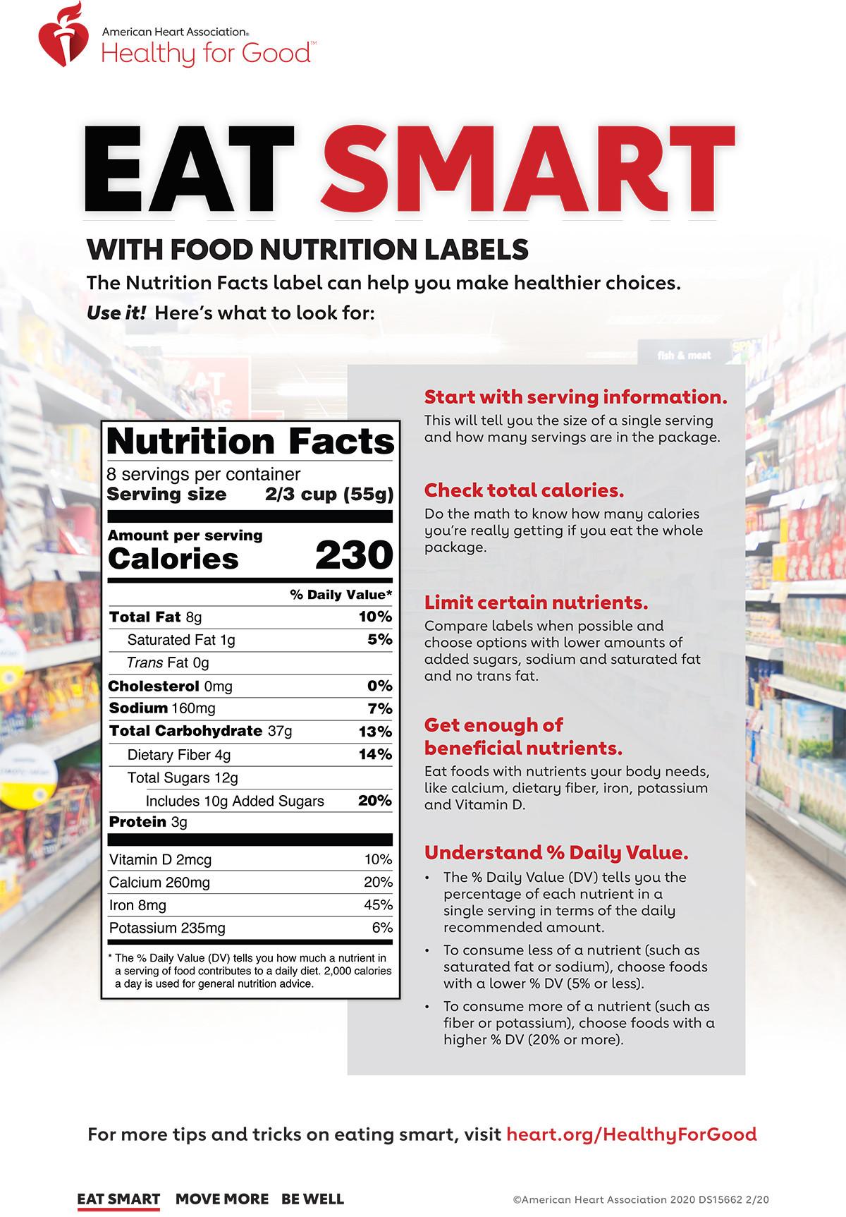 Nutrition Label Worksheet Answer