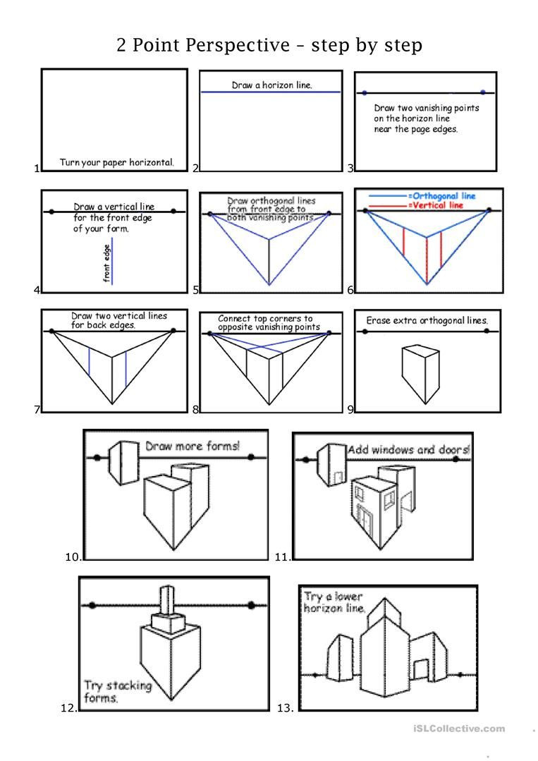 One Point Perspective Worksheet