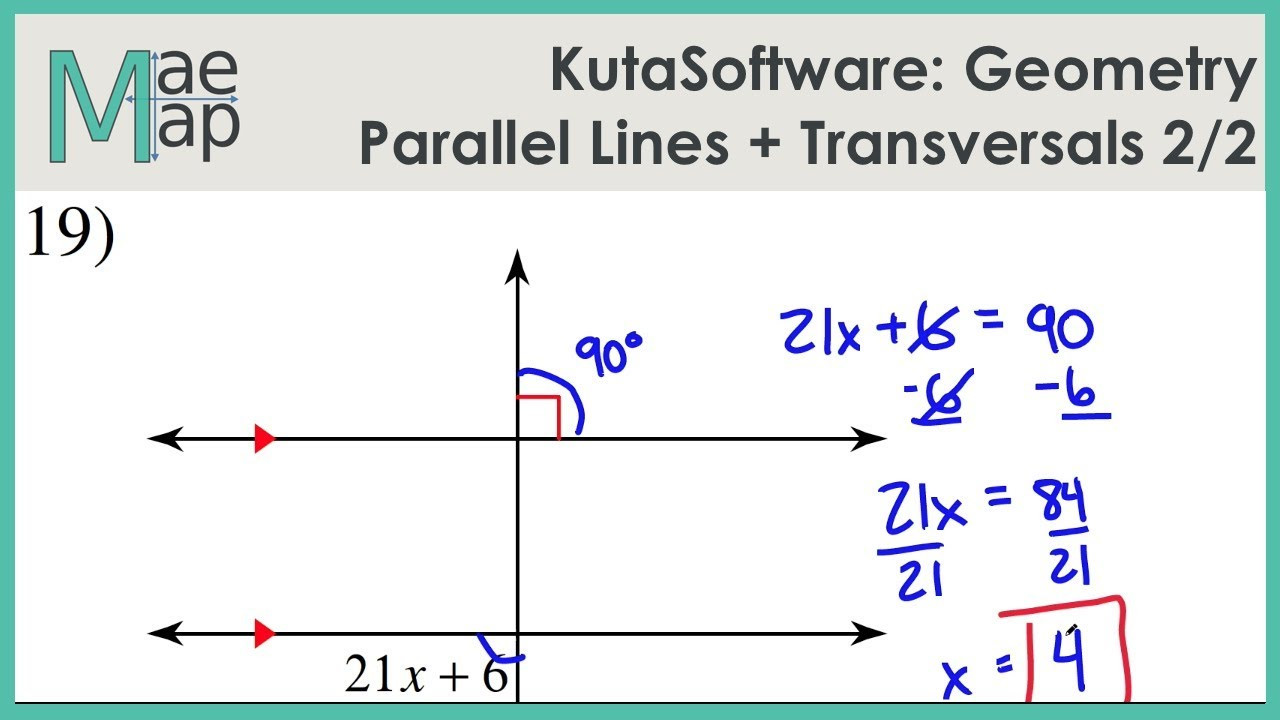 Parallel Lines and Transversals Worksheet